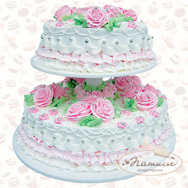 Свадебный торт фото из сливок