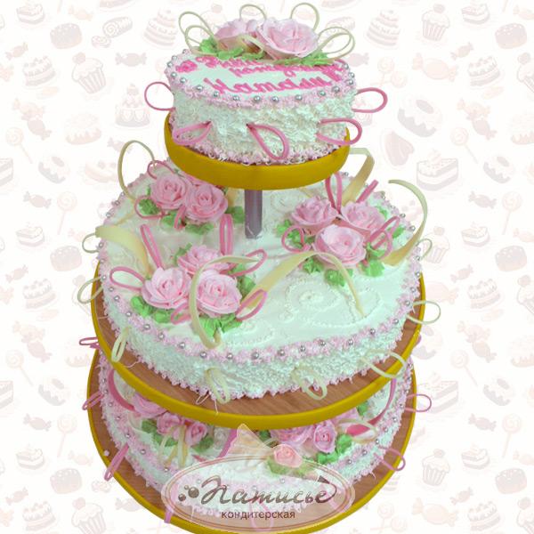 Трехэтажный торт своими руками на день рождения 100
